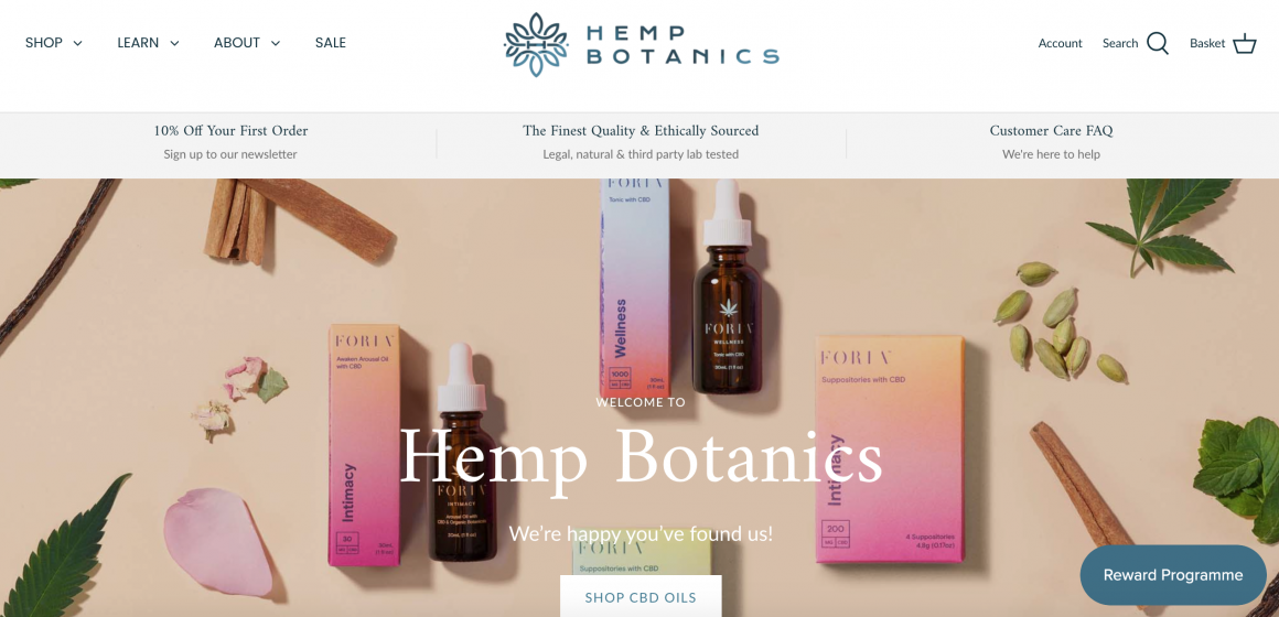 CBD Online Shop Review: Hemp Botanics